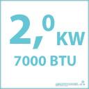 Koelcapaciteit 2.0 kW  7000 BTU