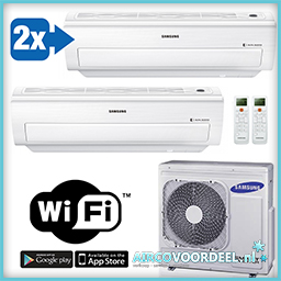 Samsung Split unit airco met WiFi A3050-AR5000W-09 DUO